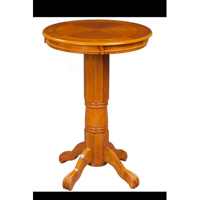 Burr Traditional Pub Table Color: Brush Oak