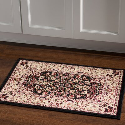 Elegance Black/Ivory Area Rug Rug Size: Rectangle 2 x 3