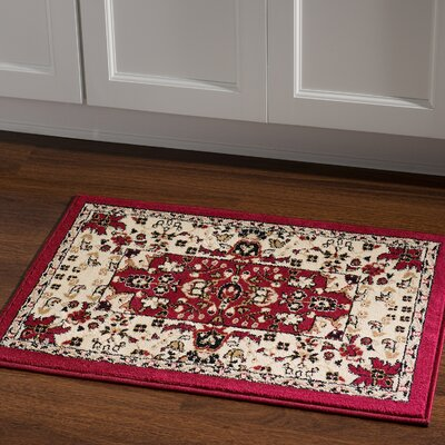 Sedgwick Traditional Area Rug in Maroon Rug Size: Rectangle 2 x 3
