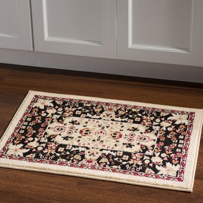 Schneider Traditional Area Rug in Ivory Rug Size: Rectangle 2 x 3