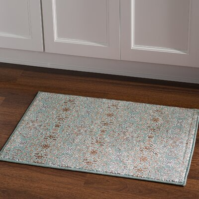 Puckett Damask Blue Area Rug Rug Size: Rectangle 2 x 3