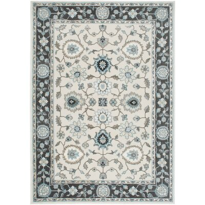 Hawley Grey/White Area Rug Rug Size: Rectangle 18 x 27
