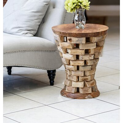 Habibi Teak Puzzled End Table