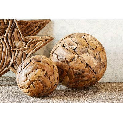 Harini Driftwood Decorative Ball Size: 12 H x 12 W x 12 D