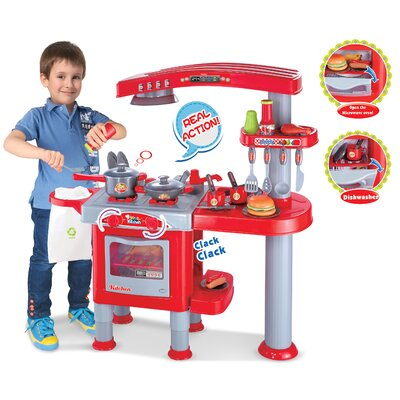 My First Play Kitchen Color: Red BR008-83