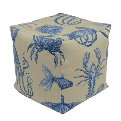 Neptune Pouf Ottoman Upholstery: Creme