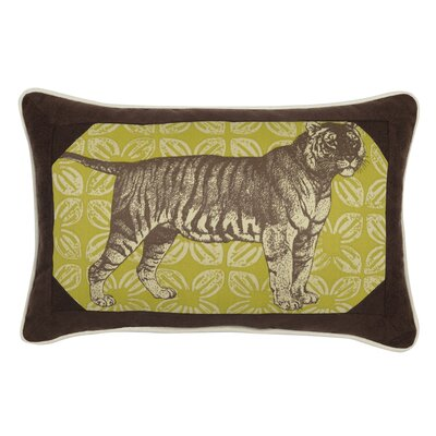 Tiger Indoor/Outdoor Throw Pillow Color: Peridot