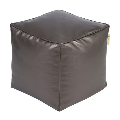Glam Pouf Ottoman Upholstery: Pewter