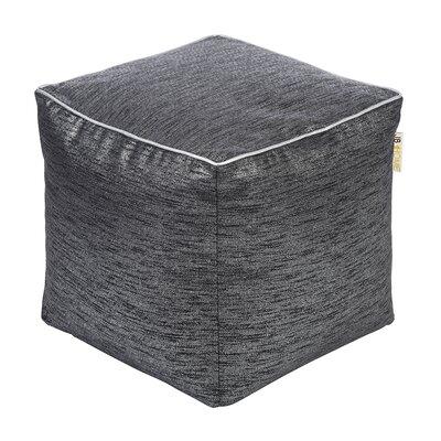 Glitz Pouf Ottoman Upholstery: Onyx