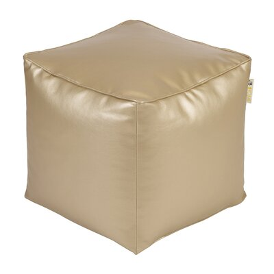 Glam Pouf Upholstery: Gold