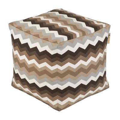 Wave Occassional Outdoor Pouf Ottoman Upholstery: Mayan