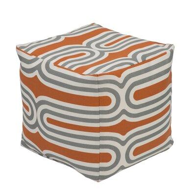 Speedway Pouf Ottoman Upholstery: Apricot