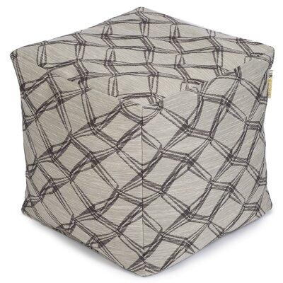 Crosby Premium Pouf Ottoman Upholstery: Latte