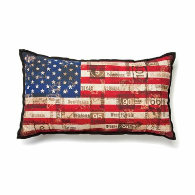 American Backroads Stars and Stripes Cotton Throw Pillow