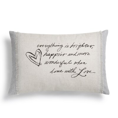 Poetic Threads Love Cotton Lumbar Pillow