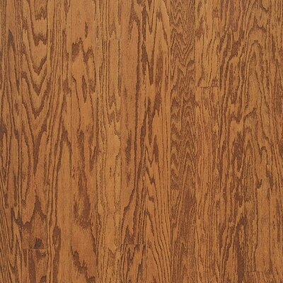 Forest Glen 5 Engineered Red Oak Parquet Hardwood Flooring in Satin Gunstock
