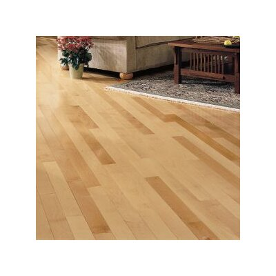 Kennedale Strip 2-1/4 Solid Maple Hardwood Flooring in Semi Gloss Natural