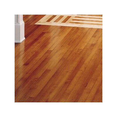 Kennedale Strip 2-1/4 Solid Maple Hardwood Flooring in Semi Gloss Cinnamon
