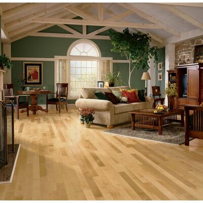 3-1/4 Solid Maple Hardwood Flooring in Country Natural