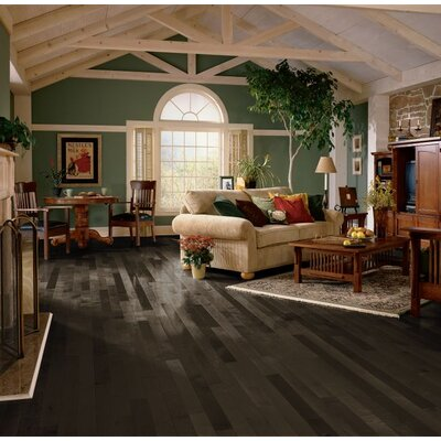 3-1/4 Solid Maple Hardwood Flooring in Midnight