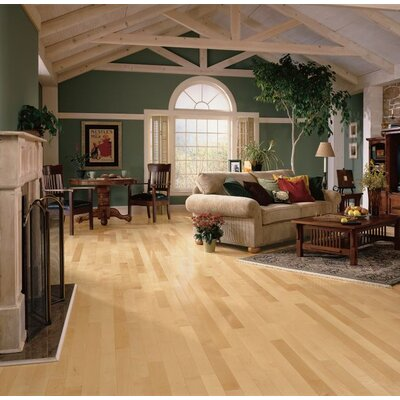 3-1/4 Solid Maple Hardwood Flooring in Natural