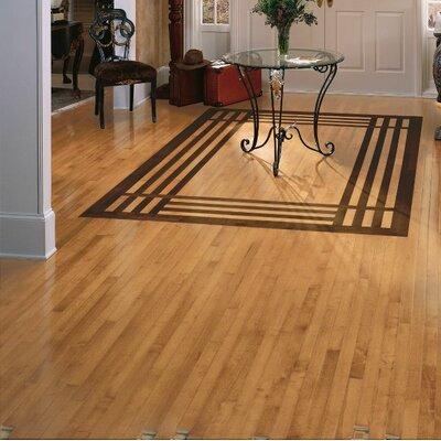 2-1/4 Solid Light Maple Hardwood Flooring in Caramel