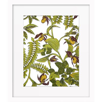 Ivy and Ferns by Ayala Budarkevich Framed Painting Print Size: 17.6