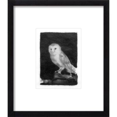 Owl Framed Print, Artfully Walls owl_kl_black_8x10