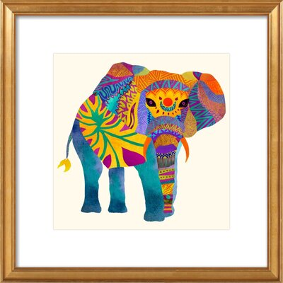 Whimsical Elephant Ii Framed Giclee Print, Artfully Walls Size: 12 H x 12 W