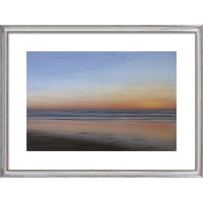 Fall Sunset Framed Giclee Print, Artfully Walls Size: 22 H x 30 W