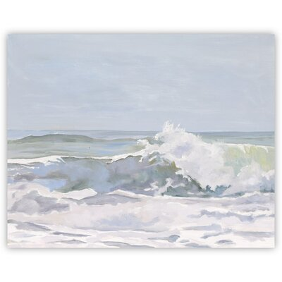 Silver Slide Burst Canvas Print, Artfully Walls Size: 8 H x 10 W x 1.5 D