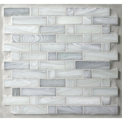 Homespun 12 x 12 Glass Mosaic Tile in Gray