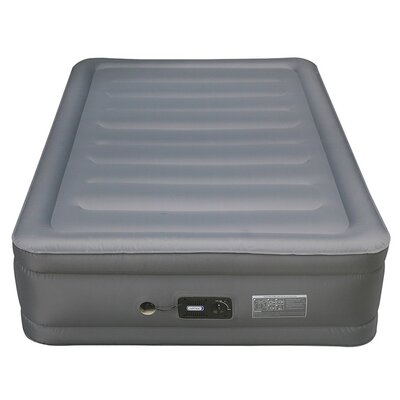 Lustrous Raised Air Bed Laminated Nylon Polyester Fabric Air Mattress Size: Full