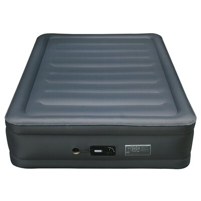 Lustrous Raised Air Bed Laminated Nylon Polyester Fabric Air Mattress Size: Queen