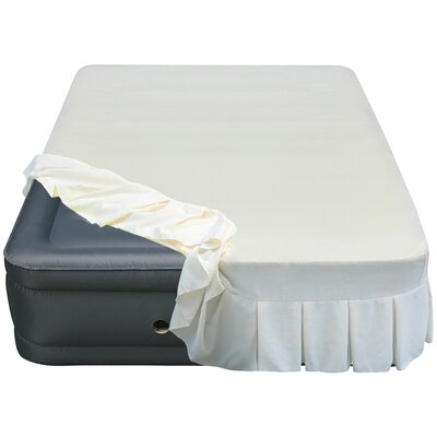Lustrous 20 Queen Air Mattress with Perfectly Fitted Skirted Sheet Cover
