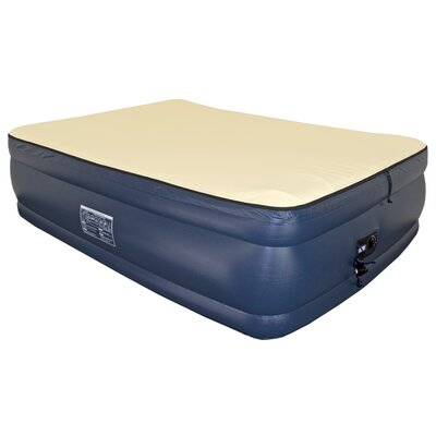 Foundation 3/4 Raised Memory Foam Air Mattress with Built-in Pump