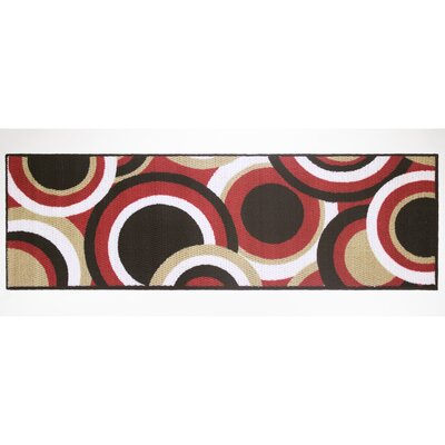 Circles Area Rug Rug Size: Runner 18 x 5