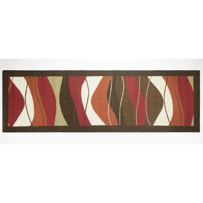 Waves Area Rug Rug Size: Runner 18 x 5
