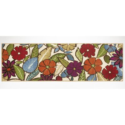 Flowers Area Rug Rug Size: Runner 18 x 5