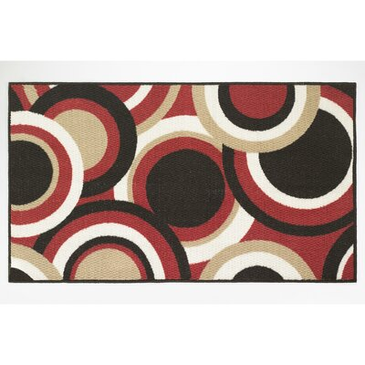 Circles Area Rug Rug Size: Rectangle 22 x 39