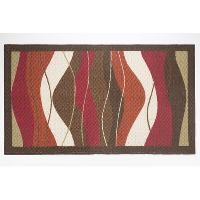 Waves Area Rug Rug Size: 22 x 39