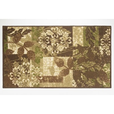 Leaves Area Rug Rug Size: Rectangle 22 x 39
