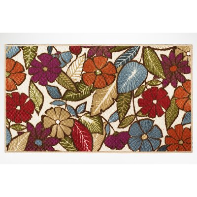 Flowers Area Rug Rug Size: Rectangle 22 x 39