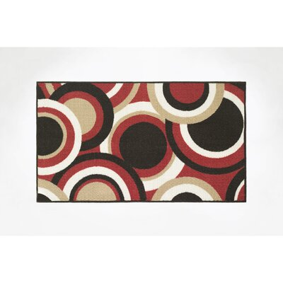 Circles Area Rug Rug Size: Rectangle 16 x 26