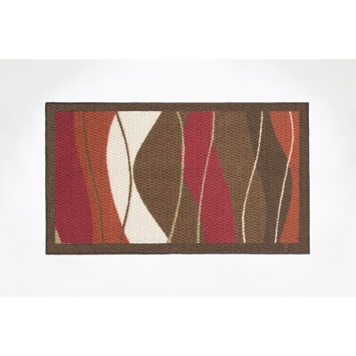 Waves Area Rug Rug Size: 16 x 26