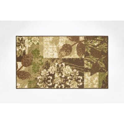 Leaves Area Rug Rug Size: 16 x 26