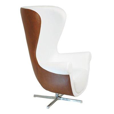 Cadee Armchair Color: White / Walnut
