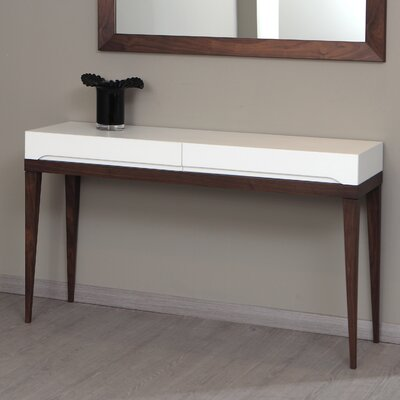 213 Plus Club Console Table Top Finish: White / Walnut