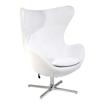 Muna Egg Shape Lounge Chair Color: White