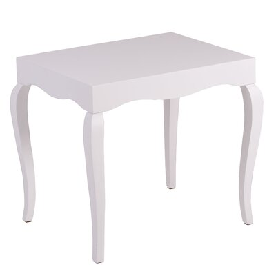Victor End Table Color: White Lacquer